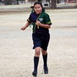 Soccer player running.