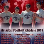 Maryvale Prep football schedule information.