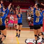 Martin County High School Girls Varsity Volleyball beat Vero Beach 3-0
