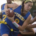 Martin County High School Girls Varsity Flag Football beat Miami Jackson High School 25-0