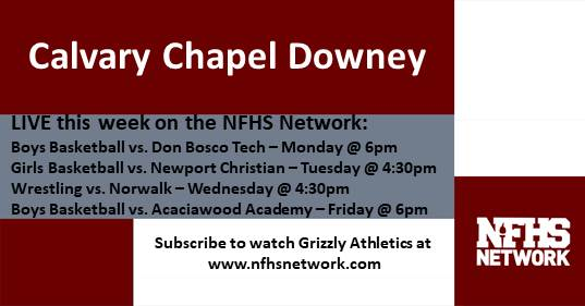 Grizzly Athletics Live This Week!