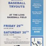 Baseball Tryouts Friday January 29th