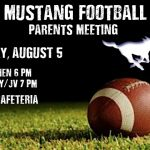 FOOTBALL PARENT MEETING TONIGHT