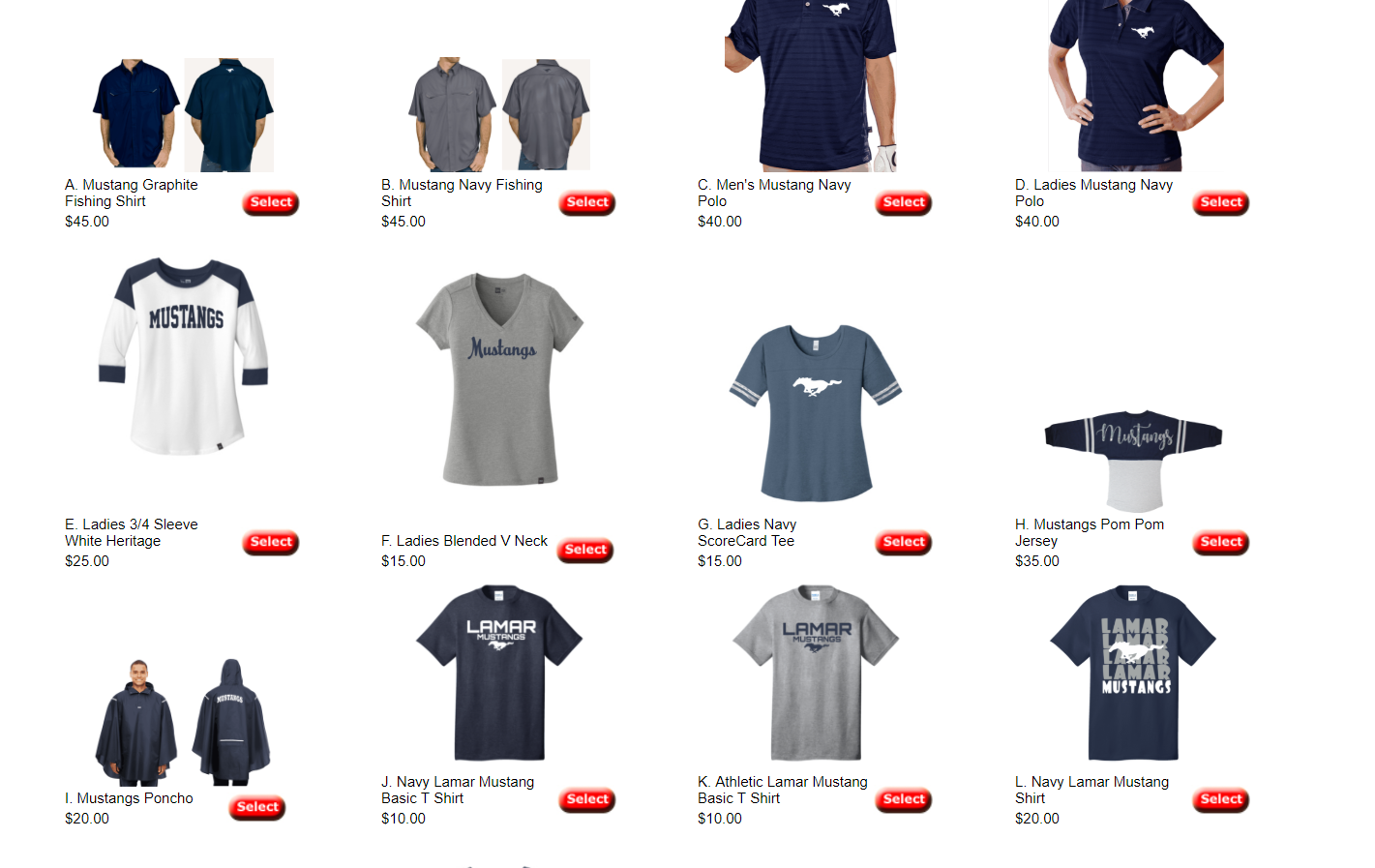 Order your Mustang Gear for the 2018-2019 School year