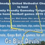 Community Tailgate & Parking for 2019 Football Games