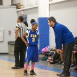 Advanced Technology Academy Girls Middle School Basketball beat Cresent Academy 28-5