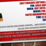 Softball Camp July 30th & 31st @ Tod Park