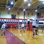 Watervliet High School Volleyball JV beats Bangor High School 2-0