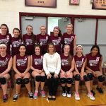 Watervliet High School Volleyball 8th Grade Girls Gold beats Lawrence High School 5-0