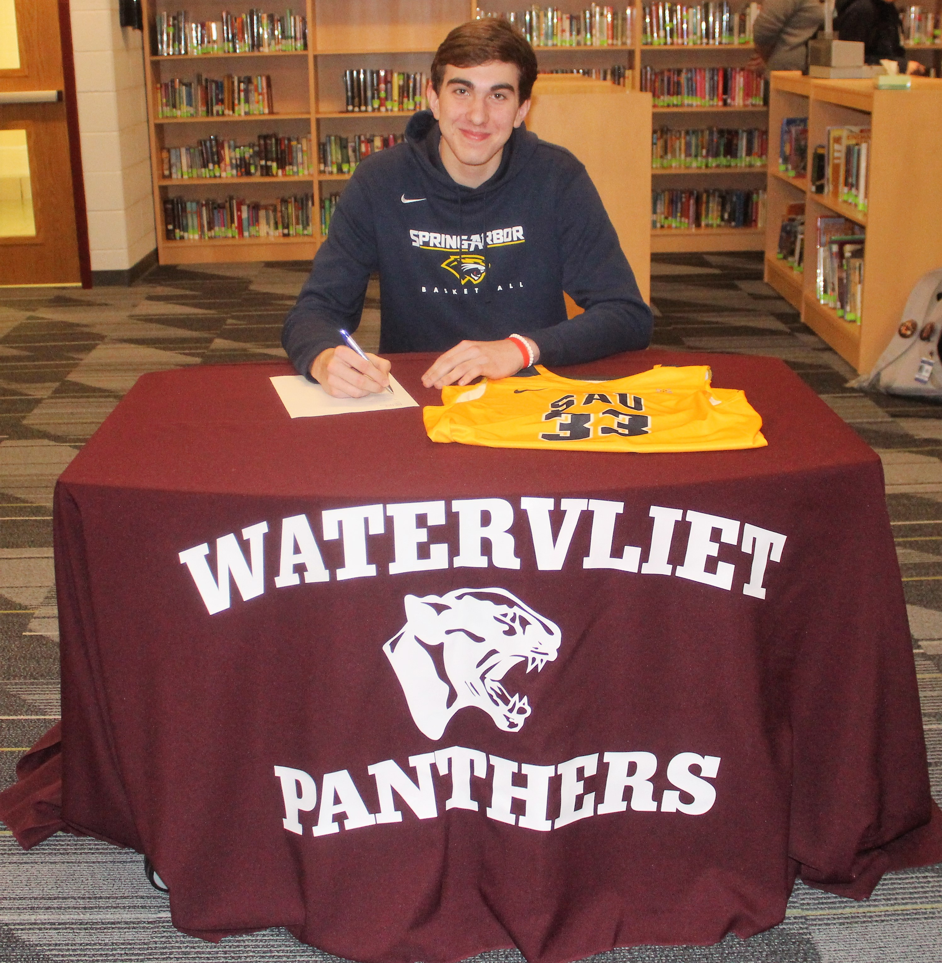 Cluster Signs with Spring Arbor