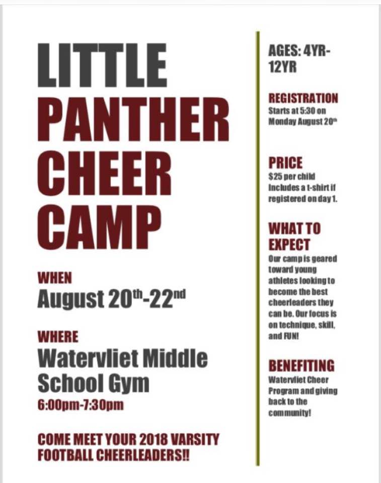 Little Panther Cheer Camp