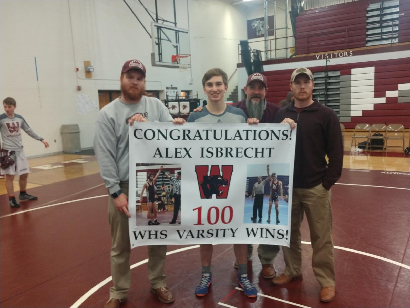 Alex Isbrecht hits 100 Wins