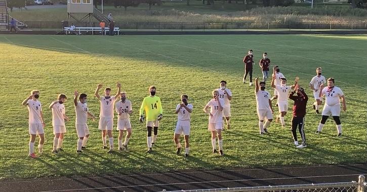 Boys Varsity Soccer beats Kalamazoo Christian 4 – 2