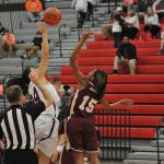 Powdersville High School Girls Varsity Basketball falls to Woodruff High School 34-62