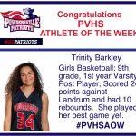 Athlete of the Week Trinity Barkley