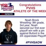 Athlete of the Week Noah Brock
