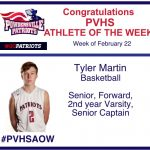 PVHS Athlete of the Week Tyler Martin