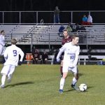 Powdersville High School Boys Varsity Soccer beat Ninety Six High School 2-0