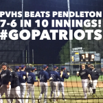 PVHS JV Baseball Wins In a 10 Inning Rally