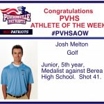 PVHS Athlete of the Week!