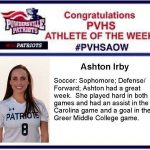 Congratulations Athlete of the Week!