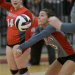 Powdersville High School Girls Varsity Volleyball beat Wren High School 3-0