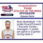 Congratulations PVHS AOW!