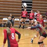 Powdersville High School Girls Varsity Volleyball beat Palmetto High School 3-0