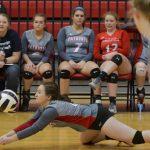 Powdersville High School Girls Varsity Volleyball beat Southside High School 3-0