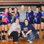 Powdersville Middle Volleyball Celebrates Eighth Graders