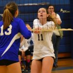Powdersville Middle School Volleyball Wins at Wren 3-1