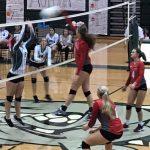 Powdersville High School Girls Varsity Volleyball beat Berea High School 3-0
