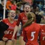 Upperstate Champions! Powdersville High School Girls Varsity Volleyball beat Chapman High School 3-0