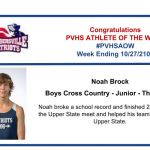 Congratulations Athlete of the Week for Week Ending October 27th!