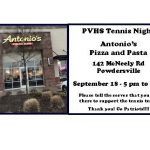 Tennis Night at Antonio's – September 18th