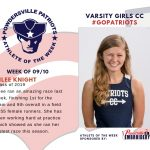 Girls Cross Country Names Athlete of the Week for Week of September 10th