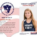 Varsity Girls Cross Country Names Athlete of the Week for Week Ending September 17th!