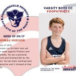 Varsity Boys Cross Country Names Athlete of the Week for Week of September 17th!