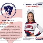 Varsity Competition Cheer Names the Athlete of the Week for the Week of October 1st