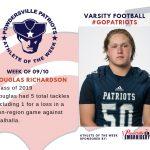 Varsity Football Names Athlete of the Week for Week of September 10th