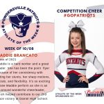Competition Cheer Names Athlete of the Week for Week of October 8th