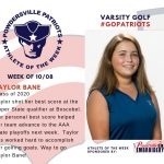 Girls Varsity Golf Names Athlete of the Week for Week of October 8th