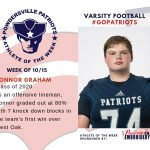 Varsity Football Names Athlete of the Week for Week of October 15th
