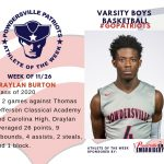 Varsity Boys Basketball Names Athlete of the Week!