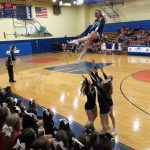 Powdersville Cheerleaders Safely Make Their Own Baskets at Wren