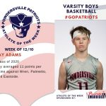 Varsity Boys Basketball Names Athlete of the Week for the Week of December 10th