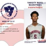 Varsity Boys Basketball Names Athlete of the Week for the Week of December 17th
