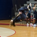 Powdersville Spirit Cheerleaders Flip Out at Seneca Basketball Game