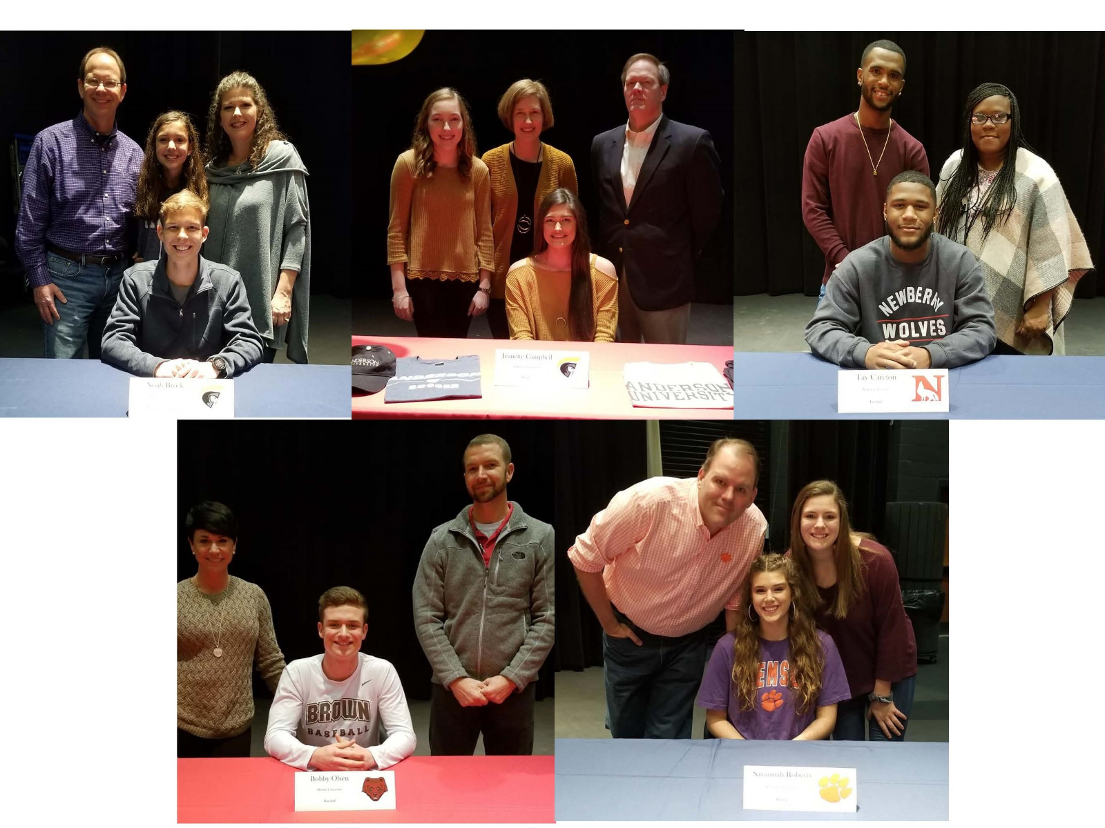 Five Powdersville High Athletes Sign Letters of Intent
