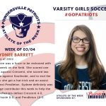 Varsity Girls Soccer Names Athlete of the Week for Week of March 4th!